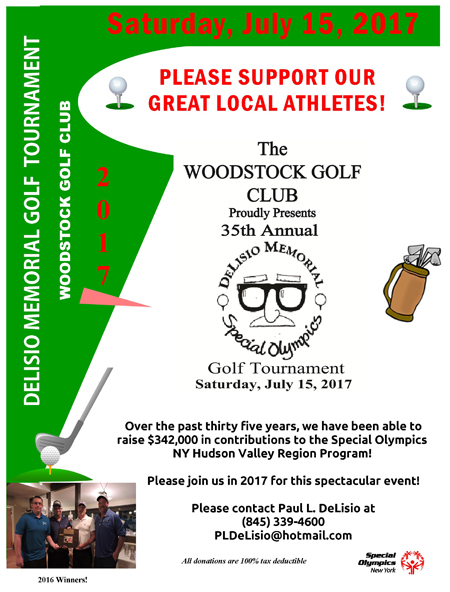 July 15, 2017 - DeLiso Memorial Golf Tournament To Benefit the Special Olympics NY